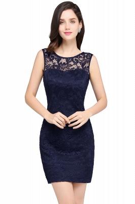 ARYA   Sheath Scoop Black Lace Cheap Homecoming Dresses_5