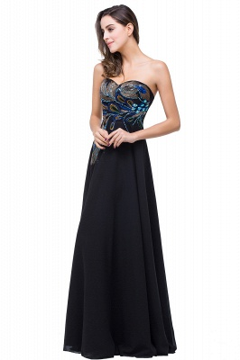 ADALYNN | A-line Sweetheart Black Evening Dress with Embroidery_4