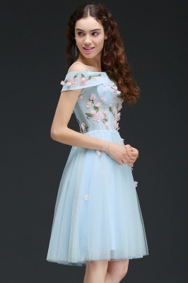 ANGELINE | A-line Short Cute Homecoming Dress Flowers_5