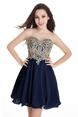 Appliques Short SweetheartMini Cheap Homecoming Dresses_8