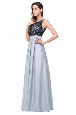 ELLIE | A-line Floor-length Crew Chiffon Lace Bridesmaid Dresses_6