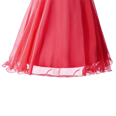 CATALINA | A-line One Shoulder Chiffon Party Dress With  Crystal_6