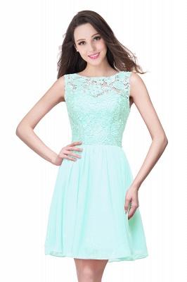 ELIANA | A-line Short Sleeveless Bateau Chiffon Ruffles Lace Top Prom Dresses_9
