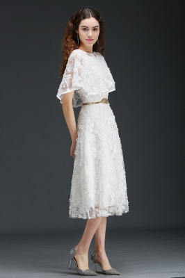 ANDREA | A-line Short Lace Homecoming Dress With Crystal_6