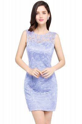 ARYA   Sheath Scoop Black Lace Cheap Homecoming Dresses_3