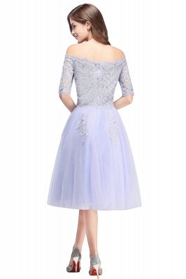 ADILYNN | A-line Bateau Tulle Prom Dress with Appliques_3