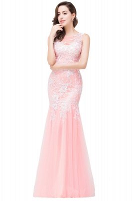 Long Lace Mermaid Sleeveless Maxi Prom Dress