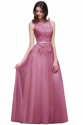 ATHENA   A-line Floor-Length Tulle Prom Dress With Lace_2