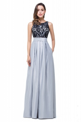 ELLIE   A-line Floor-length Crew Chiffon Lace Bridesmaid Dresses_2