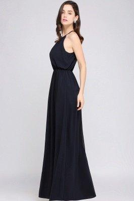 CHEYENNE   A-line Floor-length Chiffon Navy Blue Simple Prom Dress_11