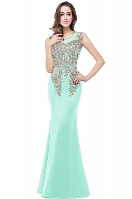ADDISYN | Mermaid Floor-length Chiffon Evening Dress with Appliques_10