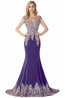 ABIGAIL | Mermaid Court Train Chiffon Evening Dress with Appliques_2