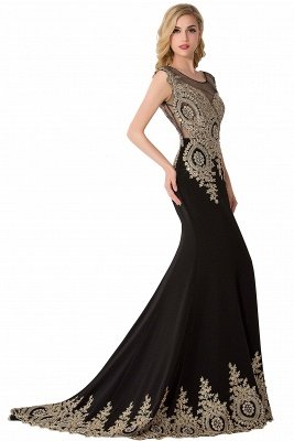 ABIGAIL | Mermaid Court Train Chiffon Evening Dress with Appliques_11