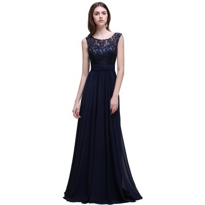 AUDRINA | A-line Scoop Chiffon Prom Dress With Lace_2