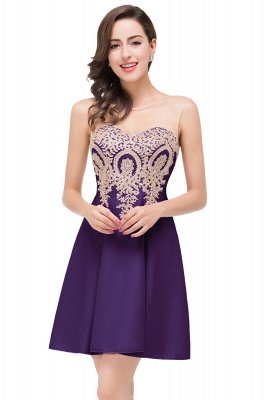 ESTHER | A-line Sleeveless Chiffon Short Prom Dresses with Appliques_4