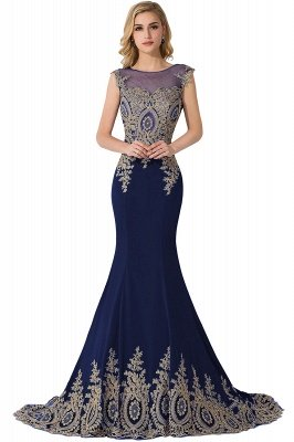 ADALINE | Mermaid Court Train Chiffon Evening Dress with Appliques_5