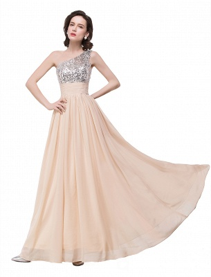 ADELYN | A-line Floor-length Chiffon Evening Dress with Sequined_8