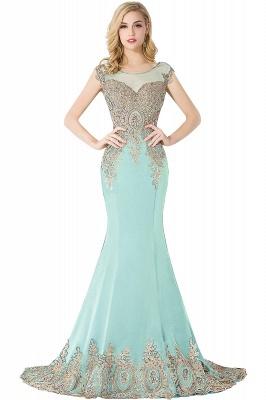ABIGAIL | Mermaid Hofzug Chiffon Abendkleid mit Applikationen_7