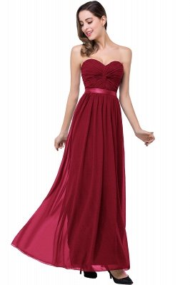 ADELINA | A-line Strapless Chiffon Bridesmaid Dress with Draped_2