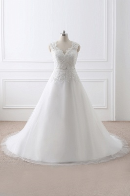 AURORA | Princess V-neck Tulle Elegant Wedding Dress With Lace