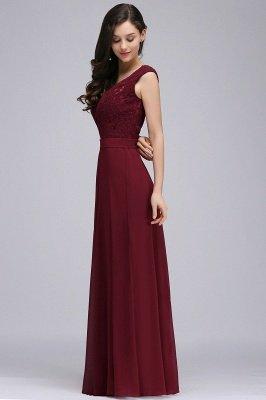 CORINNE   A-line Floor-length Lace Burgundy Elegant Prom Dress_9