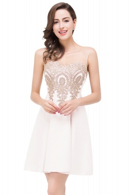 ESTHER | A-line Sleeveless Chiffon Short Prom Dresses with Appliques_1