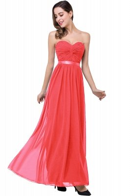 ADELINA | A-line Strapless Chiffon Bridesmaid Dress with Draped_1