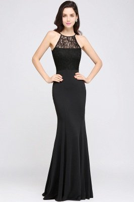 CHERISH | Mermaid Halter Floor-length Chiffon Black Prom Dress_2