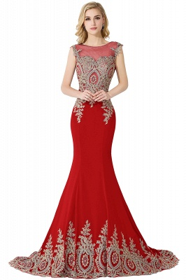 ADALINE | Mermaid Court Train Chiffon Evening Dress with Appliques_2