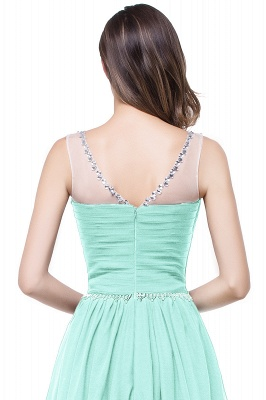 AIMEE | A-line Court Train Chiffon Party Dress With  Beading_10