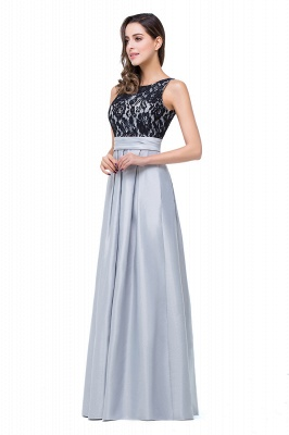 ELLIE   A-line Floor-length Crew Chiffon Lace Bridesmaid Dresses_4