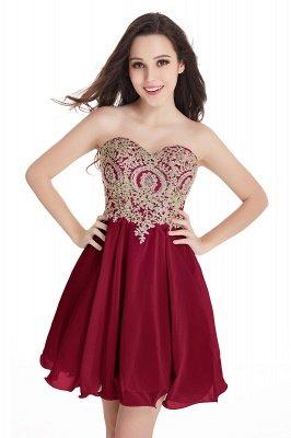Mini vestidos de fiesta cortos con apliques_2
