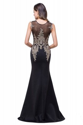 ADDISYN | Mermaid Floor-length Chiffon Evening Dress with Appliques_12