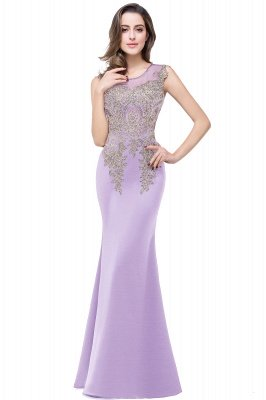 ADDISYN | Mermaid Floor-length Chiffon Evening Dress with Appliques_6