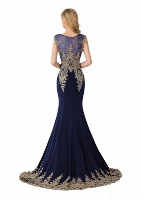ABIGAIL | Mermaid Court Train Chiffon Evening Dress with Appliques_5