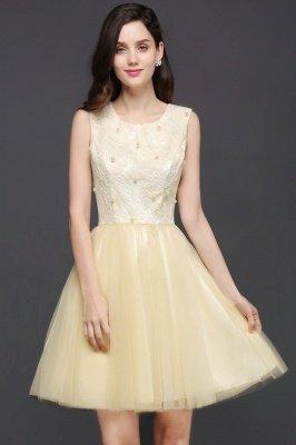 CLARA | Princess Scoop neck Knee-length Tulle Prom Dress_1