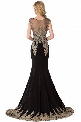 ABIGAIL | Mermaid Court Train Chiffon Evening Dress with Appliques_9