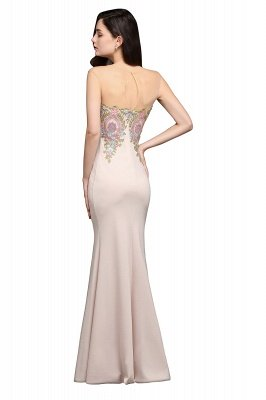 ALLISON | Mermaid Floor Length Pearl Pink Evening Dresses with Appliques_7