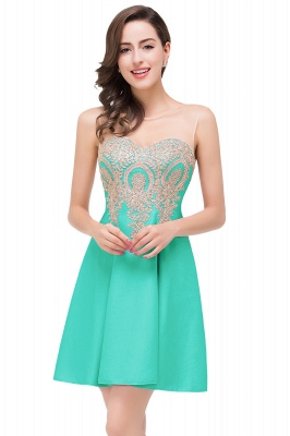 ESTHER | A-line Sleeveless Chiffon Short Prom Dresses with Appliques_6