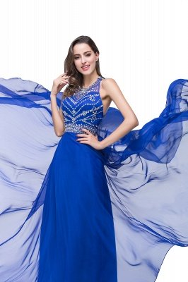 ELLA   A-line Crew Floor-length Sleeveless Tulle Prom Dresses with Crystal Beads_11