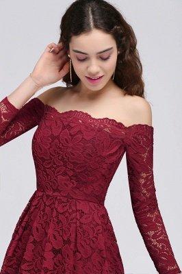 BRINLEY   A-Line Off-the-Shoulder Short Lace Burgundy Homecoming Dresses_4