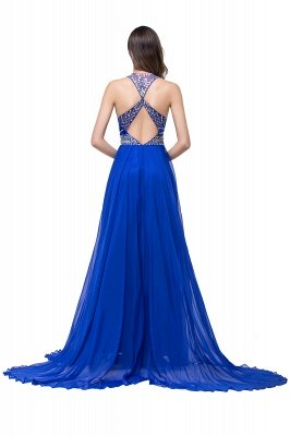 ELLA   A-line Crew Floor-length Sleeveless Tulle Prom Dresses with Crystal Beads_5