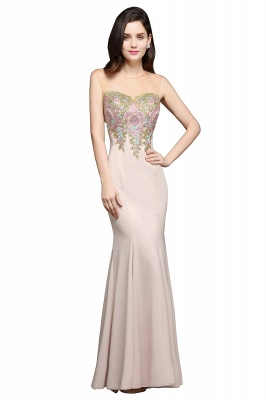 ALLISON | Mermaid Floor Length Pearl Pink Evening Dresses with Appliques_1