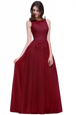 ATHENA   A-line Floor-Length Tulle Prom Dress With Lace_3