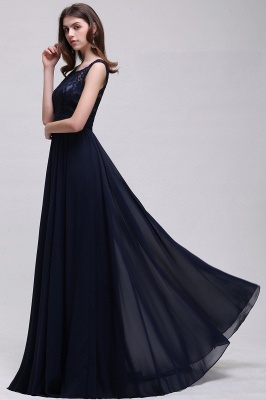 AUDRINA | A-line Scoop Chiffon Prom Dress With Lace_8