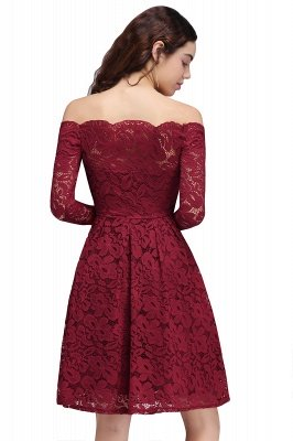 BRINLEY   A-Line Off-the-Shoulder Short Lace Burgundy Homecoming Dresses_3