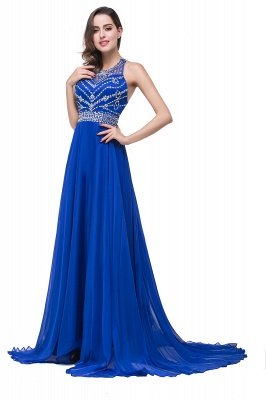 ELLA   A-line Crew Floor-length Sleeveless Tulle Prom Dresses with Crystal Beads_7