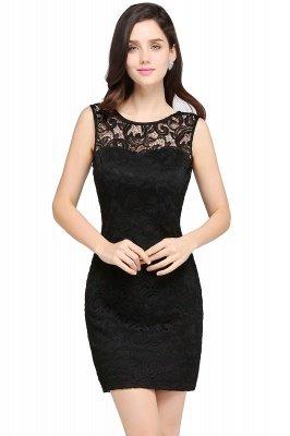 ARYA | Sheath Scoop Black Lace Cheap Homecoming Dresses_3