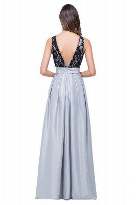 ELLIE   A-line Floor-length Crew Chiffon Lace Bridesmaid Dresses_3