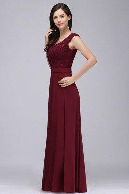 CORINNE   A-line Floor-length Lace Burgundy Elegant Prom Dress_8